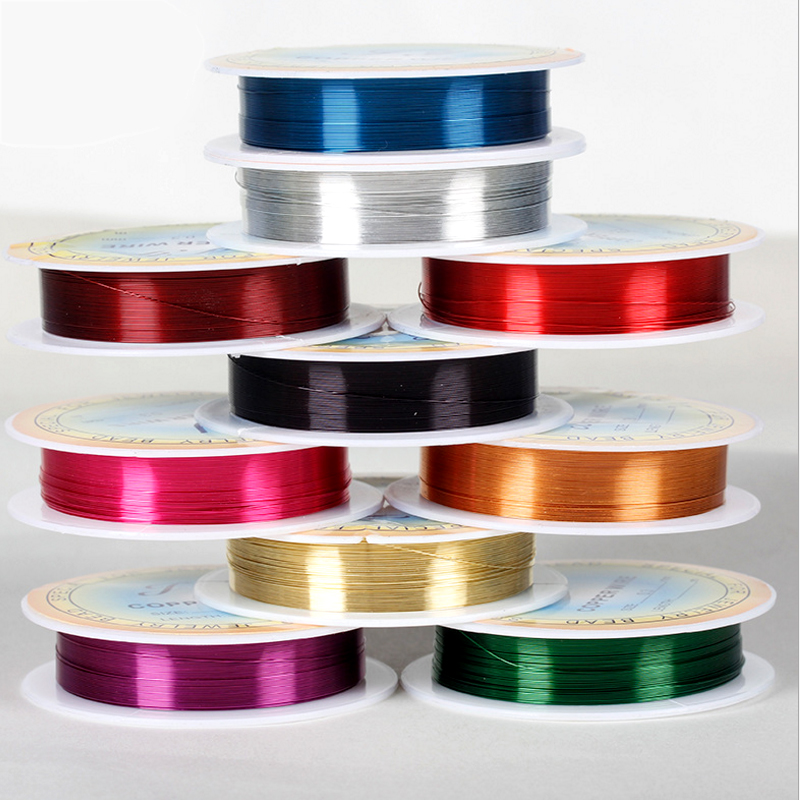 Copper Wire 0.25mm 40 Meters Long Silver Copper Color Line Of Many Specifications Bicycle Lead DIY Beads Line Wholesale