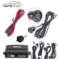 KKmoon DV 12V Car Parking Sensor Monitor Radar System Auto Parking Assistant with 4 Sensors Car Detector Black Silver Optional