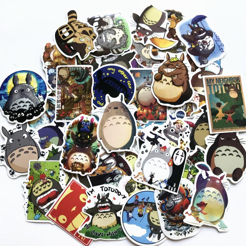 50/60 Pcs/lot Japanese Anime Movie My Neighbor Totoro Stickers For Car Laptop Phone Bicycle Suitcase Decal Toy Sticker