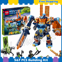 517pcs Knights Tech Wizard Showdown Clay Battle Suit Monstrox 10817 Model Building Blocks Gifts sets Nexus Compatible With Lego