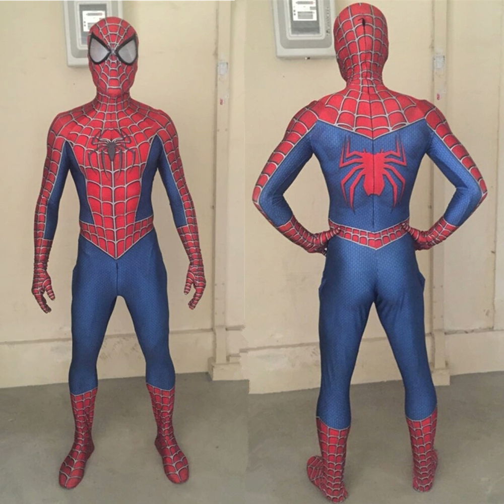 Adult Kids Spider-Man 3 Raimi Spiderman Cosplay Costume Zentai Superhero Bodysuit Suit Jumpsuits