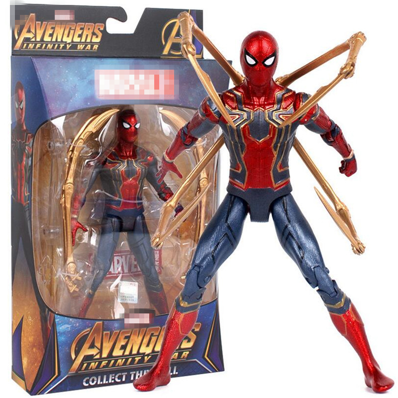 New Ironspider Marvel Avengers Infinity War Iron Spider 15cm Spiderman Super Hero Figure Model Toys for Children