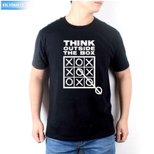 Think Outside The Box Funny Creative Mens Men T Shirt Tshirt 2017 Short Sleeve O Neck Casual T-Shirt Patchwork Plus Size Set