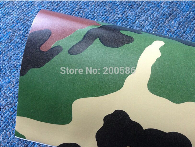 Army green camouflage vinyl car wrap foil sticker air release free ship size 1 5230m
