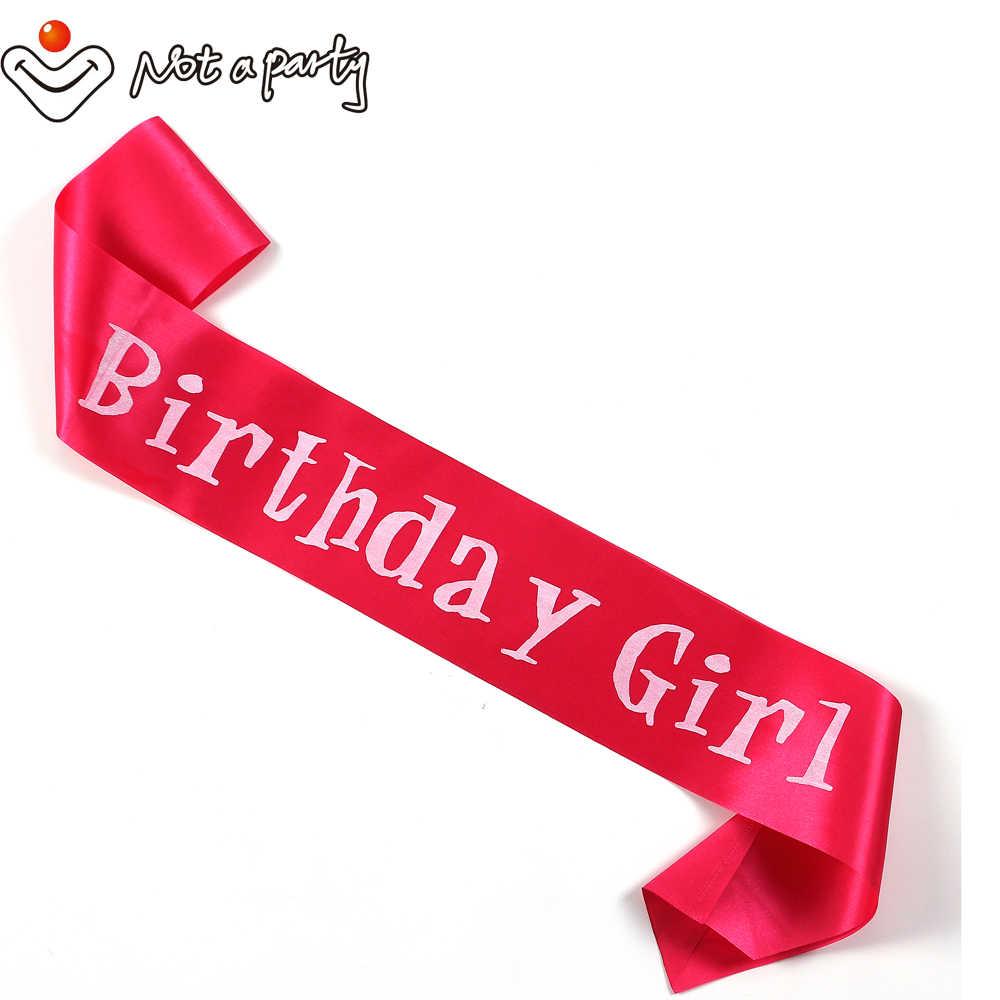 21 30 40 Selamat Ulang Tahun Gadis Ikat Pink Perlengkapan Acara Souvenir Dewasa Menyenangkan Ulang Tahun Dekorasi Hitam Ribbon 30% Jika beli 5Pcs