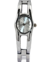 2014 New NATURAL Free Shipping FW761C Elliptic PNP Shiny Silver Watchcase Matt Silver Dial Women Bracelet
