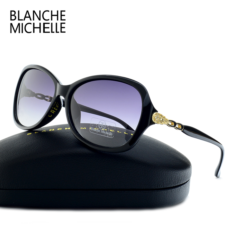 Blanche Michelle Luxury Butterfly Sunglasses Women Polarized UV400 Gradient Lens Sunglass Brand Designer Sun Glasses With Box