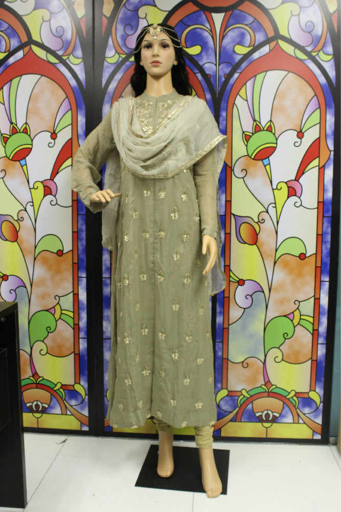 DIE SHIGNER Indische Bollywood Designer Hand Machen Zardozi Floral Kleid Set Churidar Kurti Salwar Kameez Anzug Ethnische Party Kleid