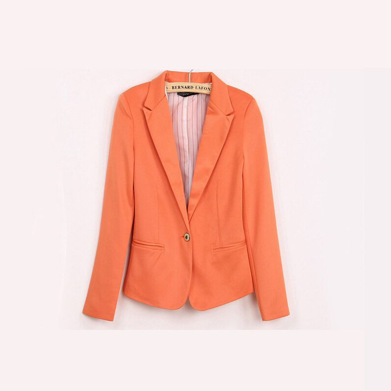 2016 New Casual Slim Women's Blazers With Striped Lined Women Single - Women's Clothing - Photo 4
