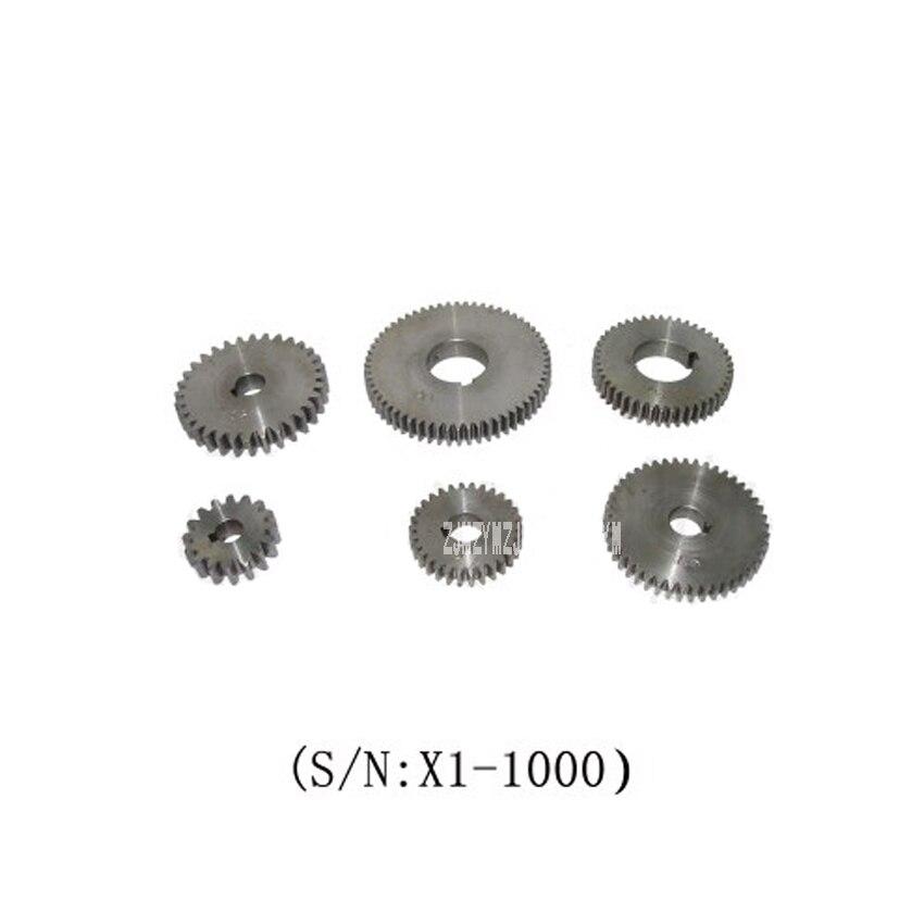 X1-1000 6 pièces En Métal Engrenage/SIEG X1 Changement Engrenage 45 # en acier à engrenages En Métal Ensemble