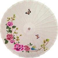 Chino tradicional hecha a mano sombrilla paraguas con la mariposa en la flor de la vid impermeable danza decoración paraguas de papel aceitado