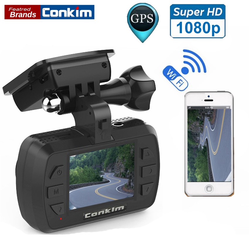 Conkim Car DVR GPS WIFI MINI 0905 Car Video Recorder 1.5 Novatek 96655 Car Camera Auto Camcorder Full HD 1920x1080P Dash Cam junsun wifi car dvr camera novatek 96655 imx 322 full hd 1080p dashcam video recorder for old audi a1 a3 a4 a5 a6 a7 q3 q5 q7