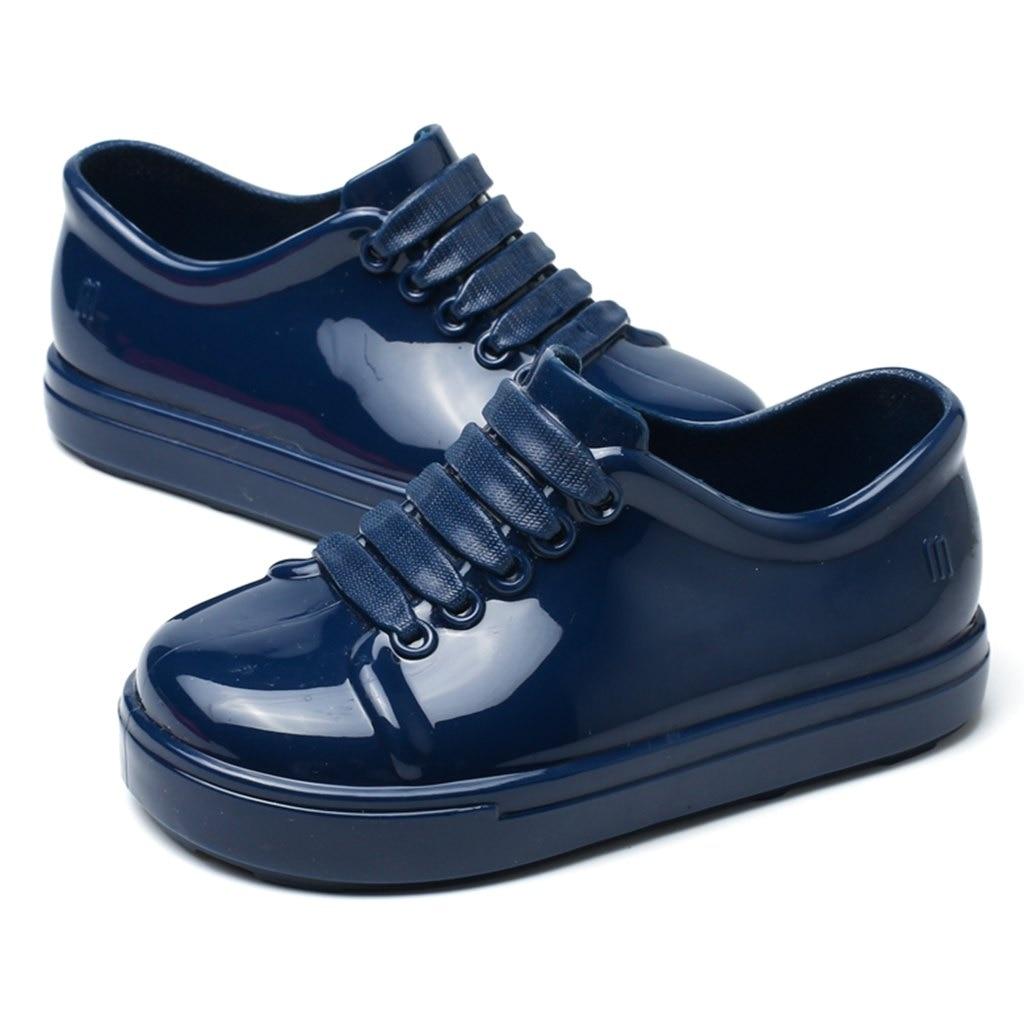 Mini Melissa No Shoelace Shoes 2018 Nowe zimowe płaskie sandały na - Obuwie dziecięce - Zdjęcie 3