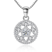 Everoyal Fashion Silver 925 Necklace For Women Jewelry Cute Lotus Crystal Pendants With Stones Accessories Female  Gift