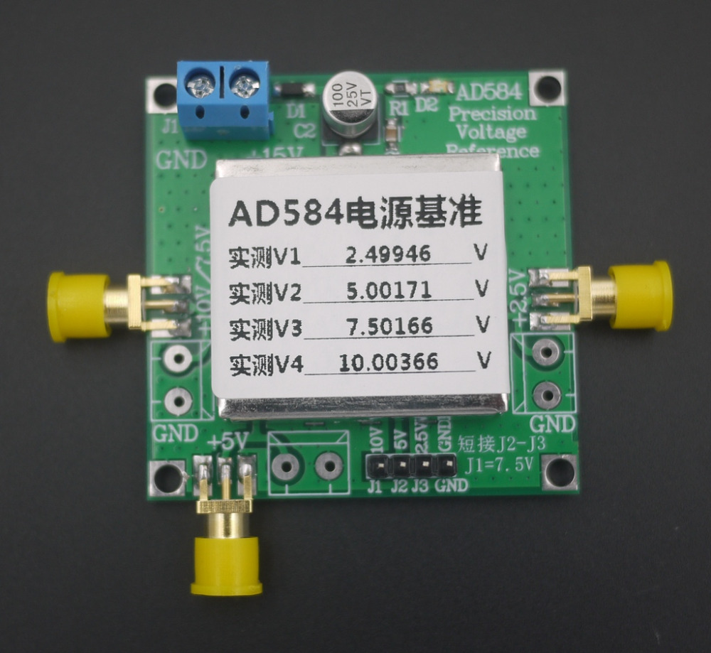 Adc Reference Dac Brave Tl431 Ad584 Lm399 Voltage Reference Source 2.5v/5v/7.5v/10v High Precision For Voltmeter Calibration