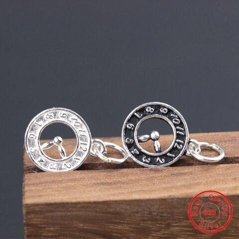 Круглые часы uqbing серебристого цвета в стиле ретро с цифрами