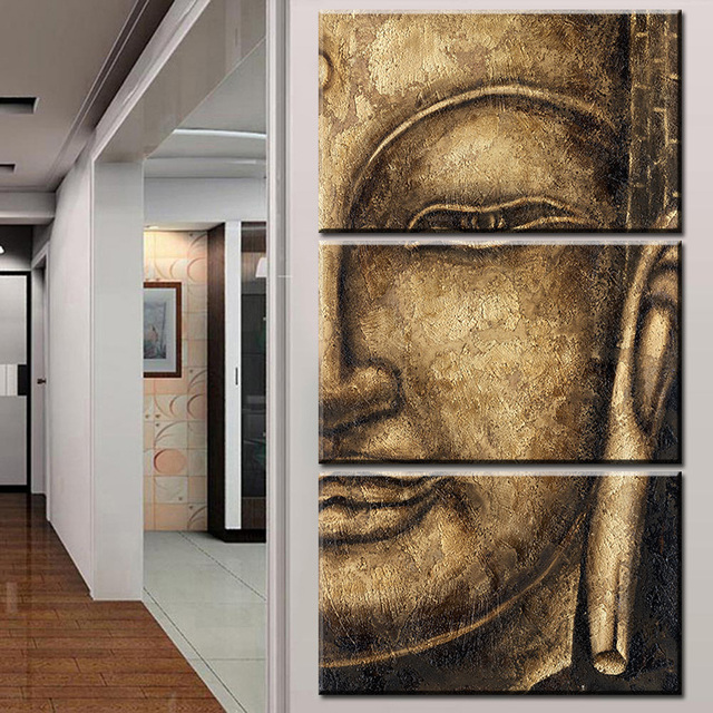 The original High Quality HD Group Oil Painting 3 Panel Wall Art Religion Buddha Oil Painting & The original High Quality HD Group Oil Painting 3 Panel Wall Art ...