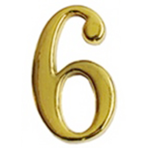 """3/""""//75mm Numeral House Door Number 4 Brass FOUR"""