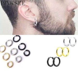 PINKSEE Stud Earrings Stainless Steel Trendy Style Jewelry