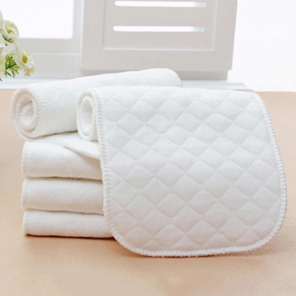 Macio Respirável fralda de Pano Do Bebê Mudando Almofadas Recém-nascidos Fraldas Forros Inserções 3 Camadas Wshable fraldas de Pano