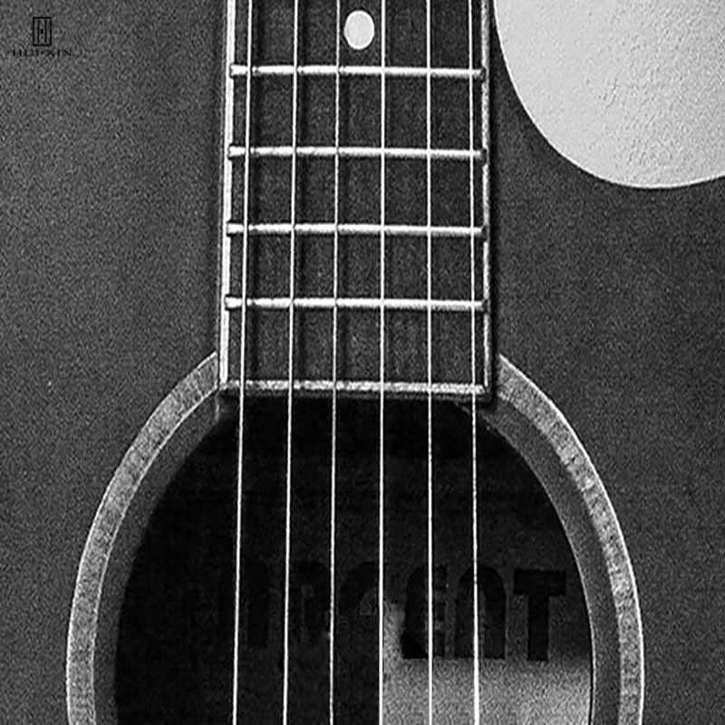Nordic Modern Concise Art Prints On Canvas Pinturas de Parede Decoração Da Casa de Uma Guitarra Legal Um Rádio Com Boas Lembranças Letras Pretas