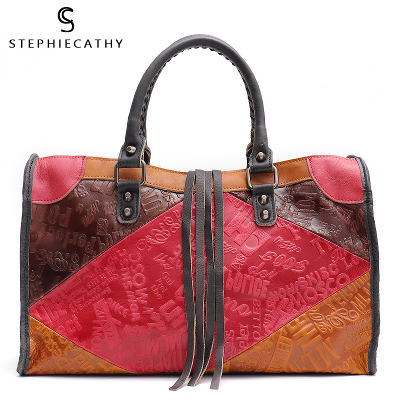SC Large Women Leather Bags Female Retro Vintage Italian Leather Shoulder Tote Bag for Girls Large