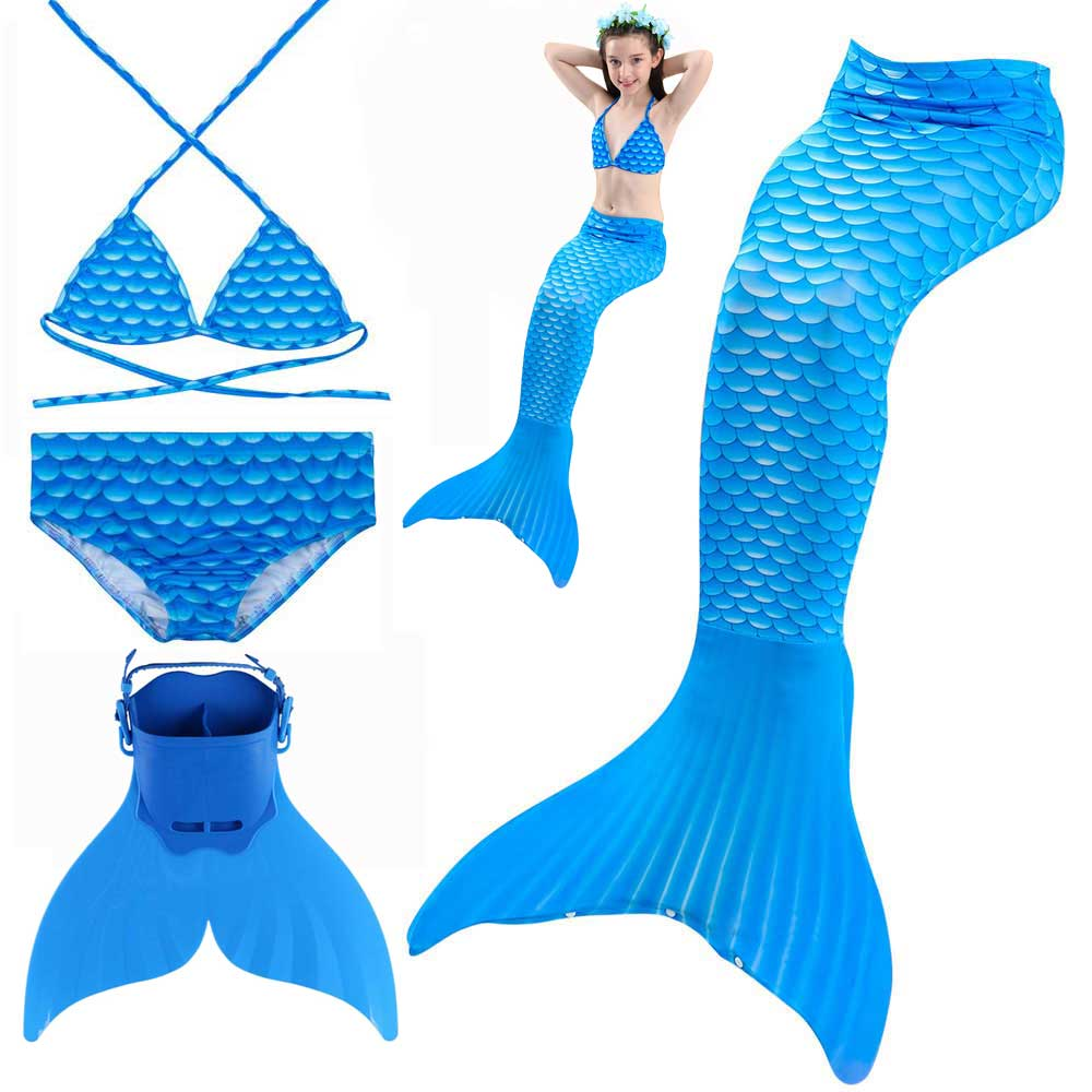 Mermaid Custume for Girls Walkabe And Swimmable Sparkle Mermaid Tail Swimsuit Swimwear Outdoor Swimming Pool Party