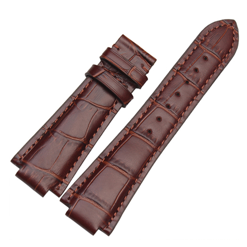 24mm High Quality Genuine Leather Watch Bands Strap Watch Men Accessories For Tissot T60 bracelet tissot t60 1 588 51