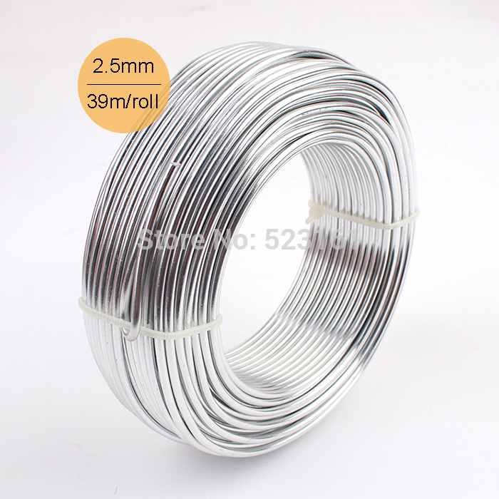2016 wholesale silver anodized aluminum diy craft wire 2 for 10 gauge craft wire