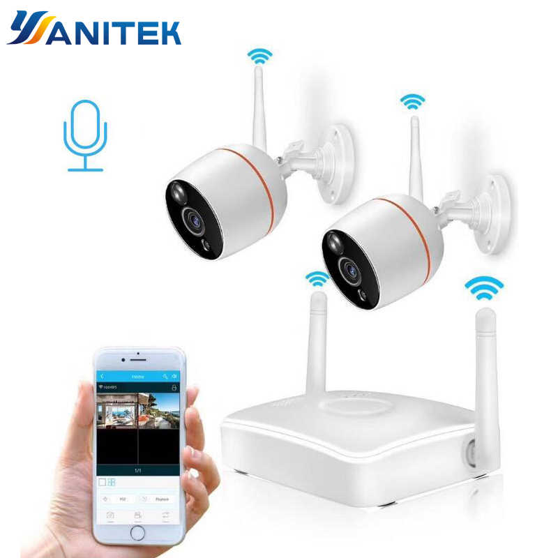 Yanitek H.265 CCTV Security Camera System HD 1080P Wifi Mini NVR Kit Video Surveillance Home Wireless IP Camera Audio OutdoorYanitek H.265 CCTV Security Camera System HD 1080P Wifi Mini NVR Kit Video Surveillance Home Wireless IP Camera Audio Outdoor