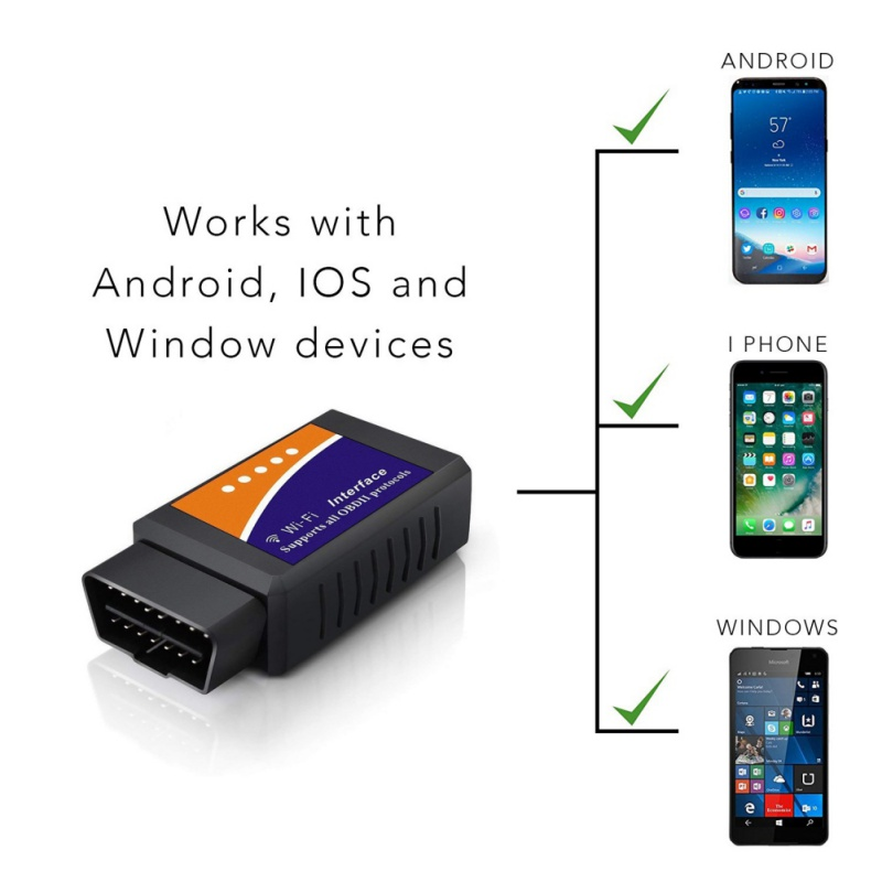 ELM327 V1.5 Bluetooth/WIFI with PIC18F25K80 Chip For Android IOS Diagnostic Tool ELM 327 OBD2 Scanner адаптер elm 327 bluetooth
