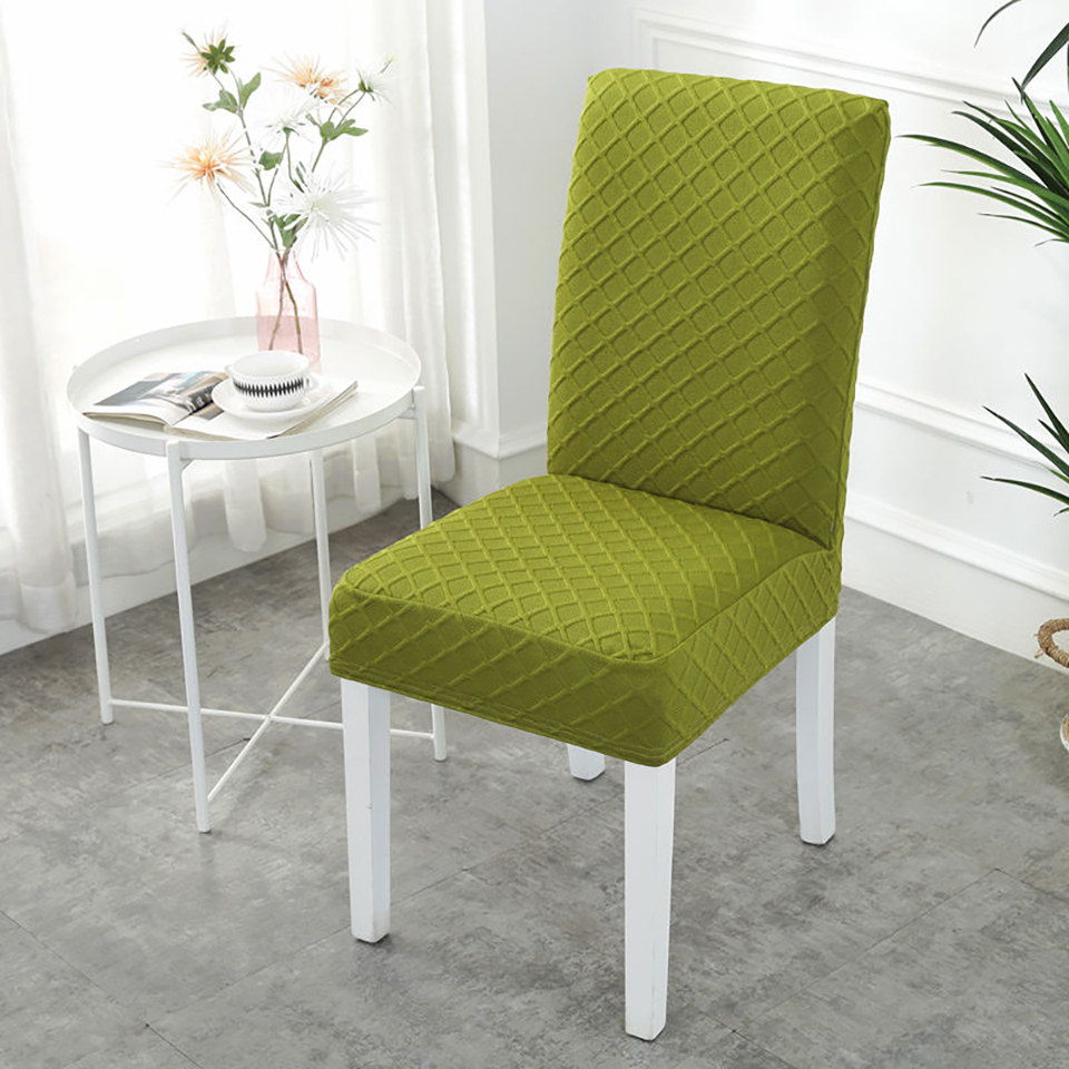 Chair Cover with Elastic Band for Dining Room Made with Double layered Polyester and Spandex Fabric
