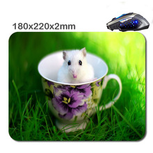 220*180*2 mm Print Custom The rats in the bowl Non-Slip Durable Computer Laptop Gaming Rubber soft Mouse Pad in As office Gift
