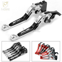 LOGO SV650 For SUZUKI SV650 SV 650 2016 Motorcycle Accessories Adjustable Folding Extendable Brake Clutch Levers