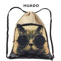 New Design hot selling unisex animal printed DIY drawstring backpack for women girls