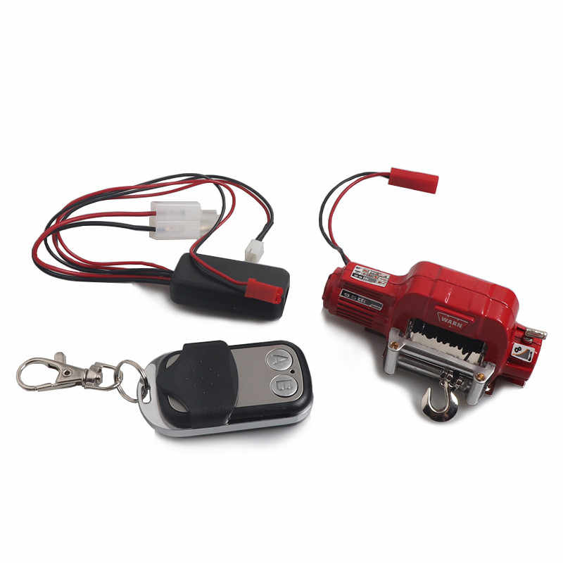Metal Winch w// Remote Controller Receiver for 1:10 Axial SCX10 RC Crawler Car