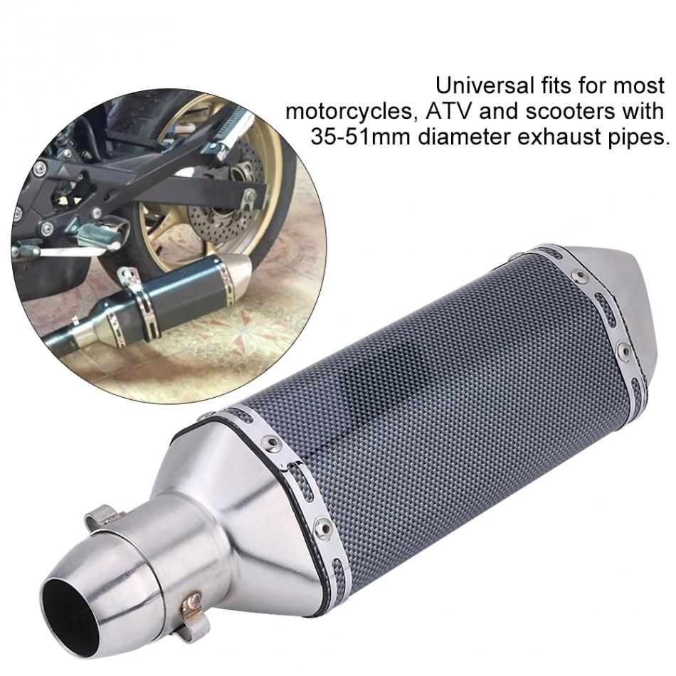 Universal Motorcycle Dirt Bike Modified Exhaust Escape Muffler Pipe with DB Killer for motorcycles fit pipe diameter 36mm-51mm