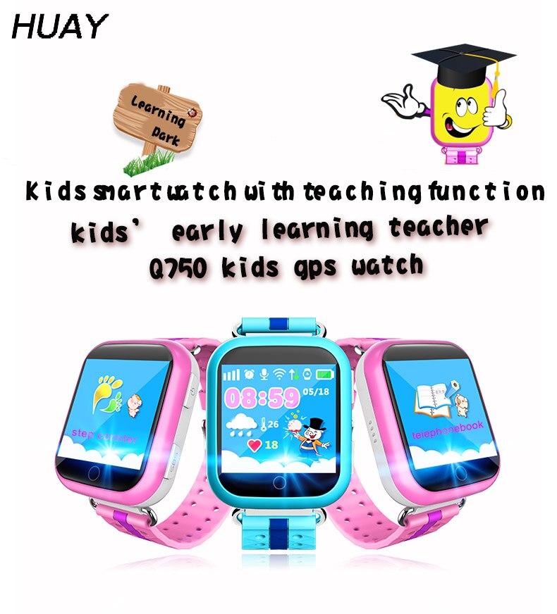 Kids GPS tracker Watch Q100 Safe touch screen 1.54 SOS Call Finder Locator Tracking Anti Lost children Smart Wristwatch Q750