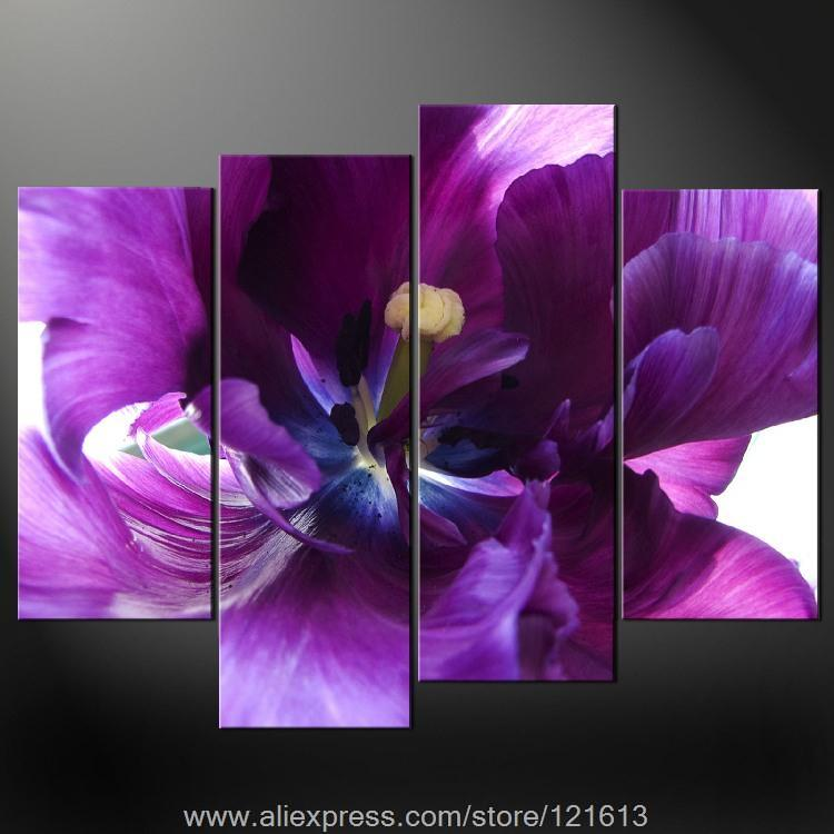 Purple premium wall art cascade picture many sizes free for Canvas roll for painting
