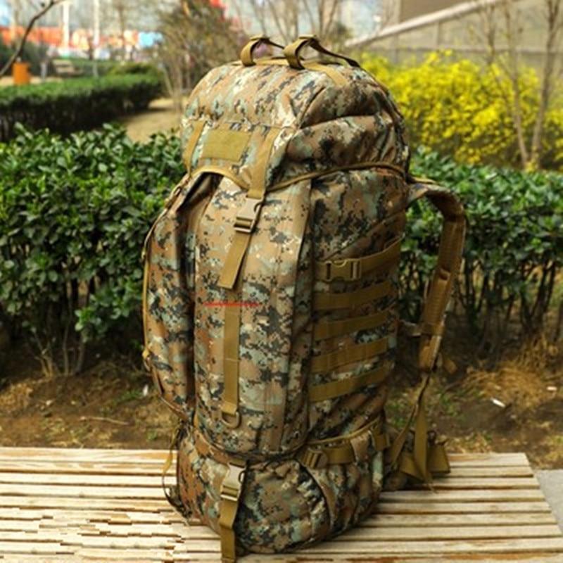 Professionelle Kundui Wasserdichter Taschen Schulter Rucksack Bergsteigenbeutel Gepäck Leinwand Reiserucksack L Doppelt 80 Tarnung ztwzfUx