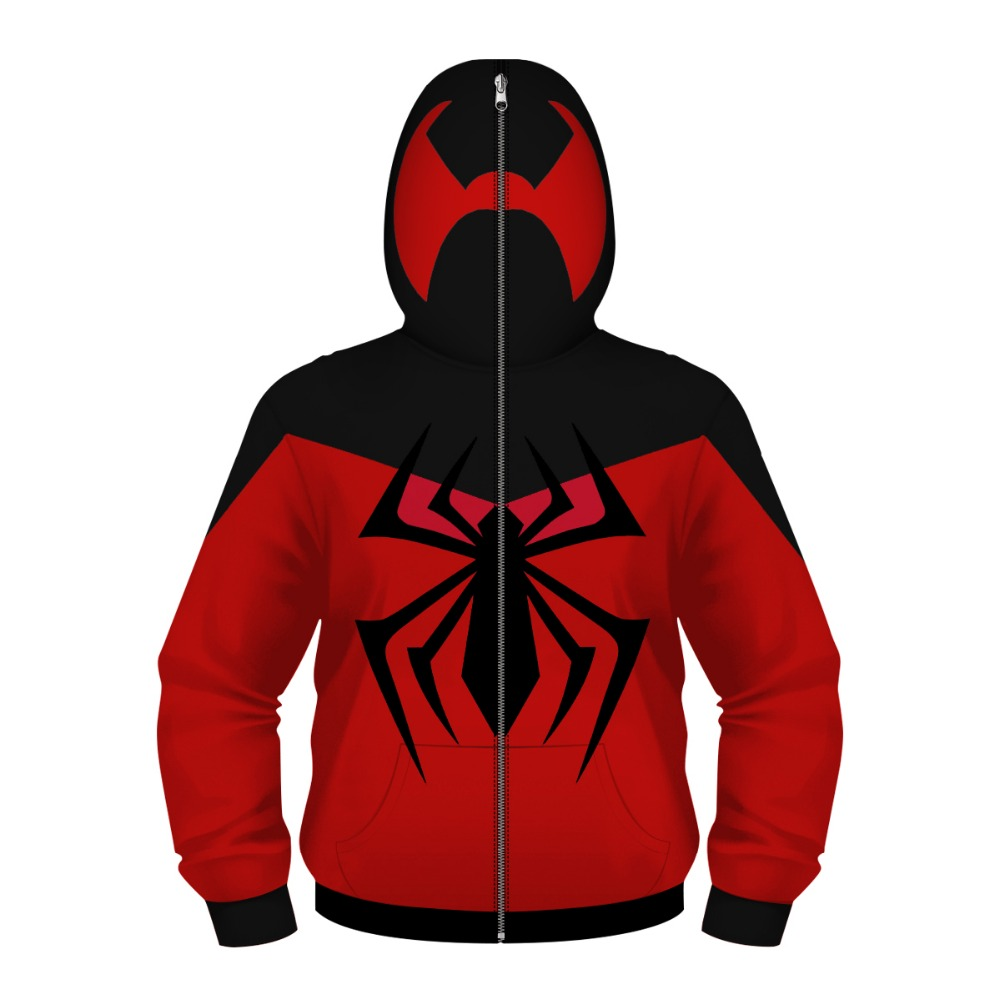 Children's Jackets Teens Hoodies Spider Superhero Cosplay Clothing 4-13y Boy's Jacket Costume Teenage Kids Coat Child's Pullover