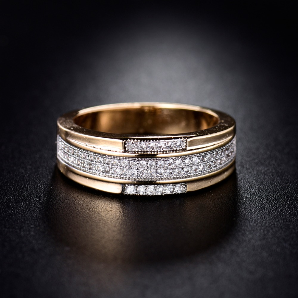 Huche Vintage Costume Jewelry Midi Rings For Women Goldcolor Zirconia  Crystal Wedding Engagement Ring