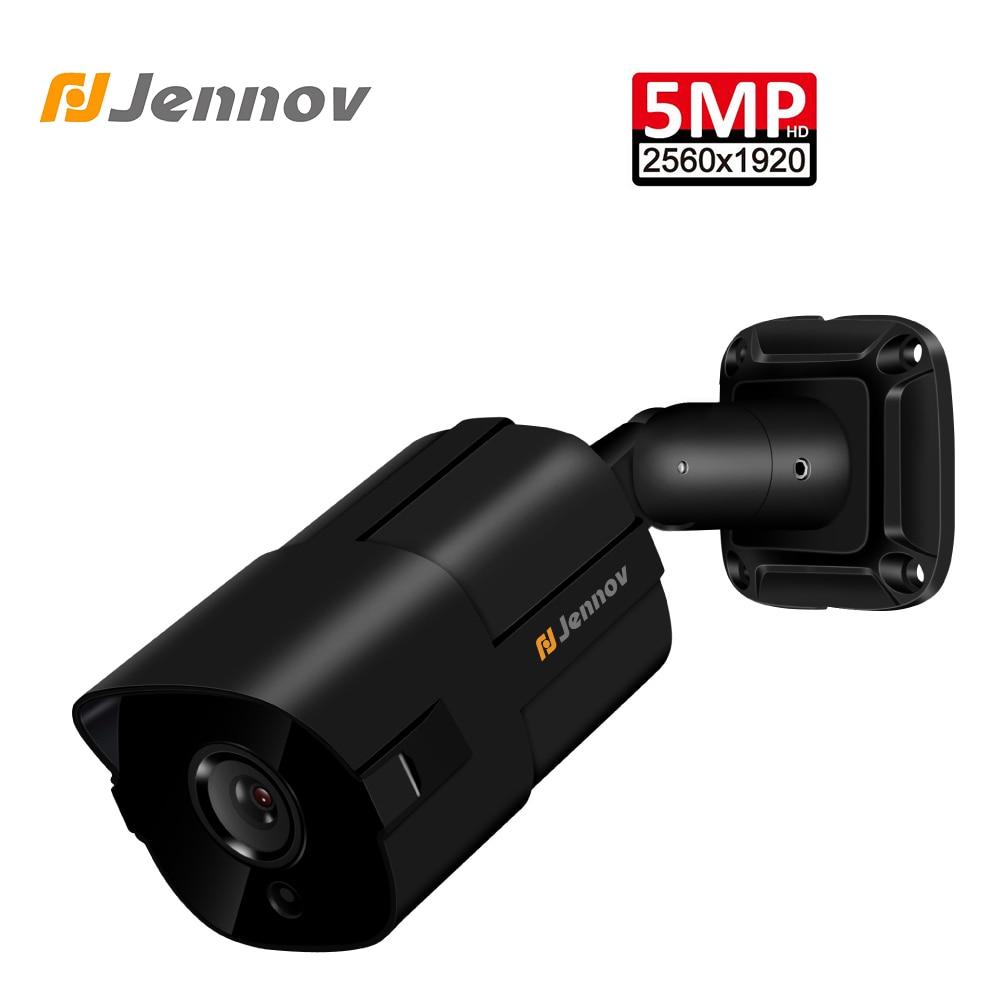 Jennov 5MP H.265 caméra IP POE caméra de sécurité à domicile Surveillance vidéo P2P NVR Full HD ONVIF détection de mouvement alertes par e-mail