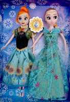 Brinquedos dolls PC Toys Princess Anna and Elsa Doll Joint Moveable Birthday Chrismas Kids toys for Girls Children Elsa Anna