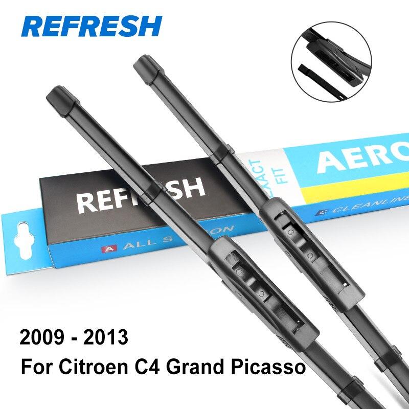 REFRESH Щетки стеклоочистителя для Citroen C4 Grand Picasso Подходящие штыковые рукоятки / Боковые штифты / Кнопочные рычаги Модельный год С 2006 по год - Цвет: 2009 - 2013