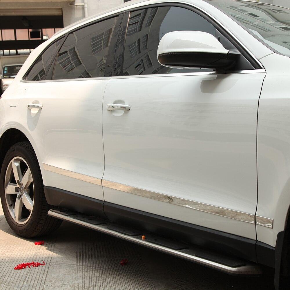 Garniture de garniture de protection de corps latéral chromé pour AUDI Q5 2010 2011 2012 2013 2014 accessoires de style de voiture