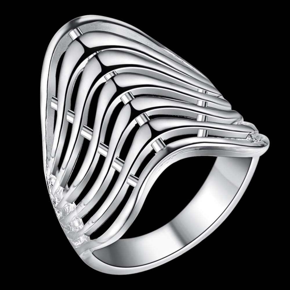 โค้งแฟชั่นคลาสสิกขายส่งเงิน 925 แหวนแฟชั่นเครื่องประดับแหวนผู้หญิง/YGDHOBPB IZYOBURA