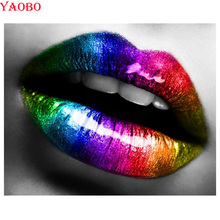 Sexy lips Diamond Painting woman DIY 5D Full Square Round Embroidery Rhinestones Mosaic Kits Home Decor Craft Gift