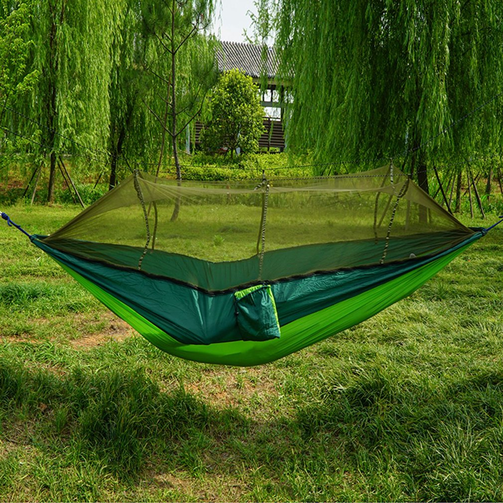 10 Pieces Outdoor Travel Portable Double Hammock With Mosquito Net For Outdoor Camping Traveling Es1542 Camp Sleeping Gear