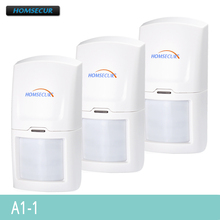 HOMSECUR 3PCS Wireless 433MHz PIR Motion Sensor For Home Alarm System A1 1